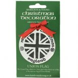 Silver Plated Christmas Decoration Union Flag 0956